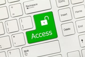 White conceptual keyboard - Access (green key)