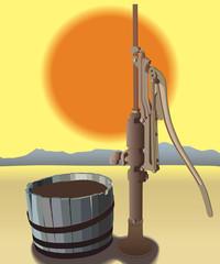 Old Pump in Sun