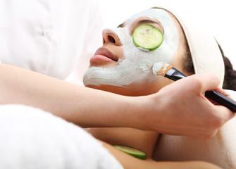 Maska oczyszczająca,maseczce z zielonej glinki, relaks w spa