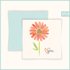 Romantic Floral Card