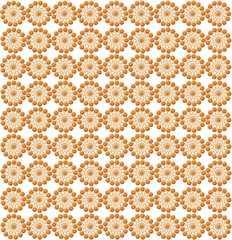 luxurious wallpapers with round brown patterns
