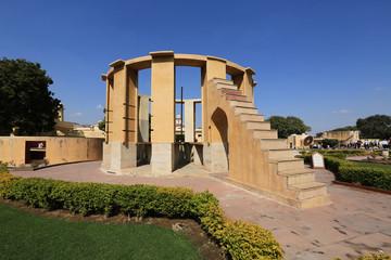 Astronomical instruments at Jantar Mantar observatory, Jaipur