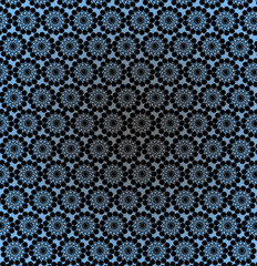 luxurious wallpapers with round blue patterns