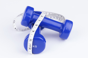Measure and dumbbells