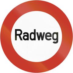 Radweg 1937