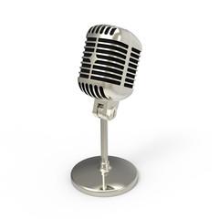 Mikrofon weiss