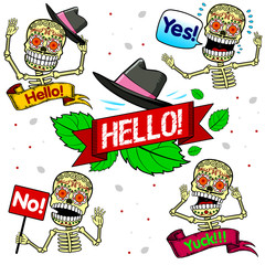 Funny skeletons. Emotions. Part One.