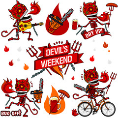 Funny skeletons. Devil's Weekend.