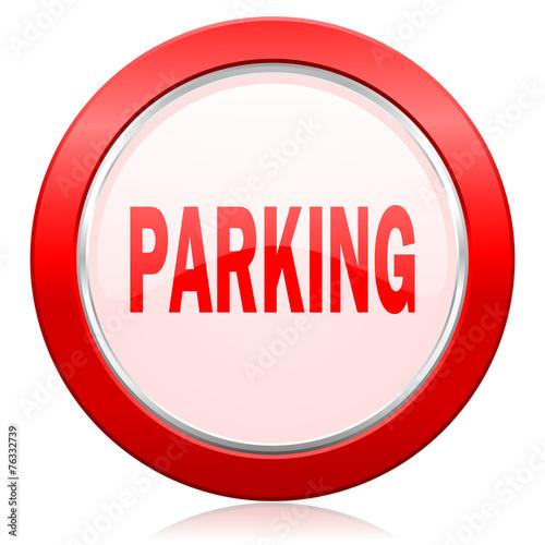 canvas print picture parking icon