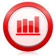 canvas print picture - bar chart icon