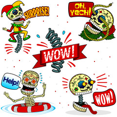 Funny skeletons. Emotions. Part Two.
