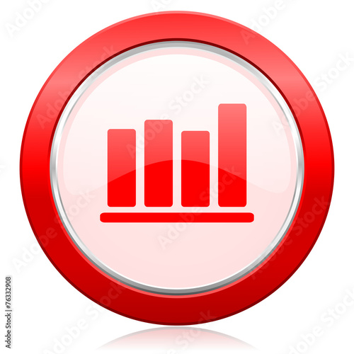 canvas print picture bar chart icon