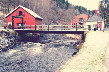 Bridge on the river Lomma