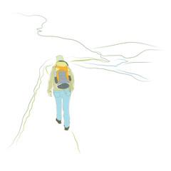 Wanderung - Frau wandert