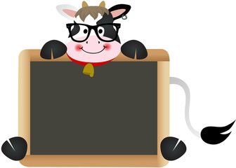 Cow Teacher with School Board
