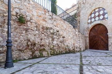 door in the tower of Alvar Fanez, Guadalajara, Spain