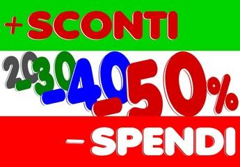 Manifesto Italiano più sconti meno spendi