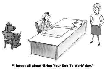 'Bring you dog to work' day