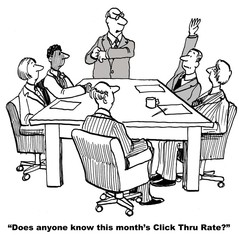 Does anyone know this month's click thru rate?