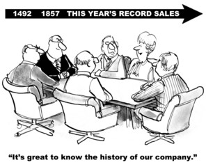 It's good to know the history of our company: record sales