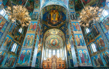 Interior of Church of the Savior on Spilled Blood, St Petersburg
