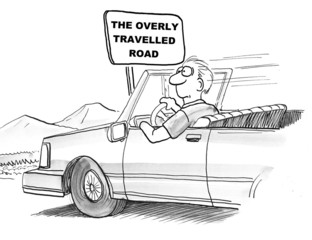 The overly travelled road