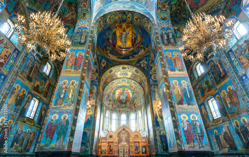 Zdjęcia na płótnie, fototapety, obrazy : Interior of Church of the Savior on Spilled Blood, St Petersburg