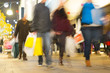 Blur movement of city people worker, shopping in London, England