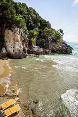 sandy beach in Lazio, Italy