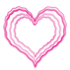 Lace heart vector frame