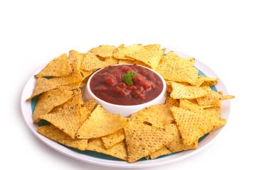 Nacho crunch salsa dip