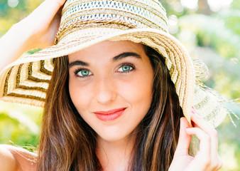 Beautiful girl with pamela portrait