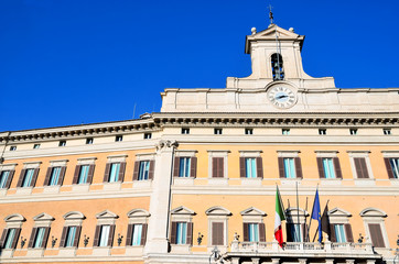 Montecitorio in the old town of Rome: Seat of the Representative