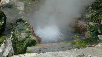 Hot Springs Geyser Closeup, Furnas, Azores, Portugal