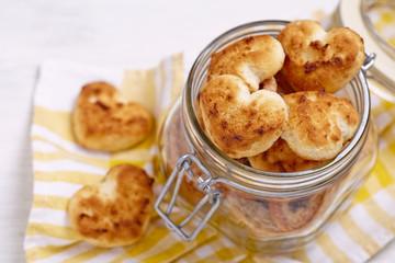 Coconut cookies heart shape