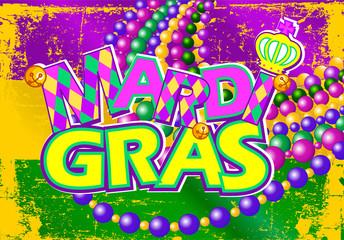 Mardi Gras flag.