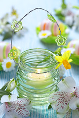 Easter decoration with candles