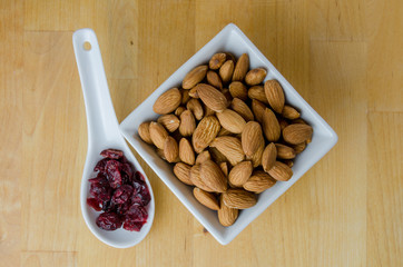 Cranberries and Almonds