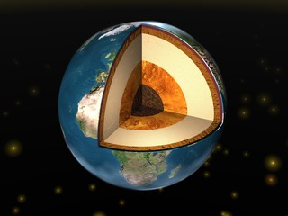 Earth. Earth cutaway. Structure of the Earth.