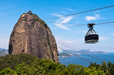 Sugarloaf Mountain with the Cable Car in Rio de Janeiro - 76339979