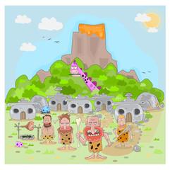 Stone Age Vector Illustration