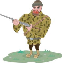 Hunter Character Vector Illustration