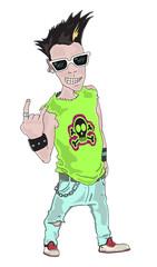 Rocker Character Vector Illustration