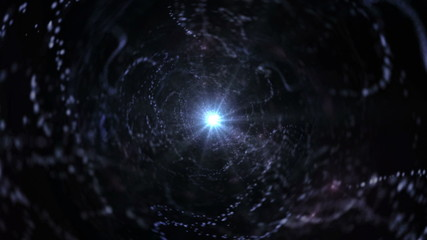 Abstract Universe Tunnel Background