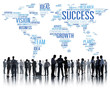 canvas print picture - Global Business People Corporate Meeting Success Growth Concept