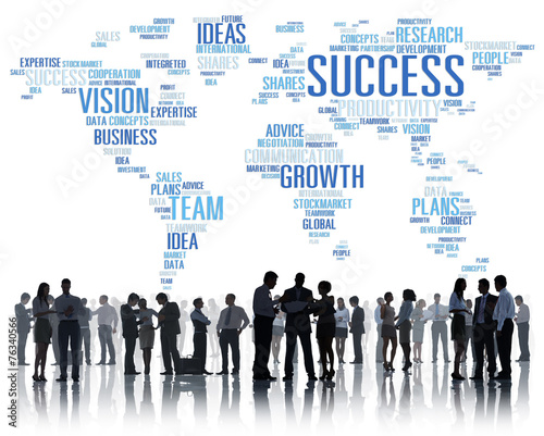 canvas print picture Global Business People Corporate Meeting Success Growth Concept