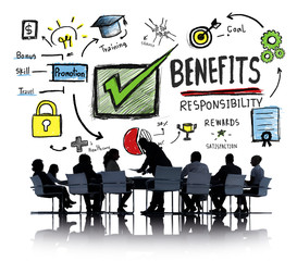 Benefits Profit Earning Income Business Meeting Concept