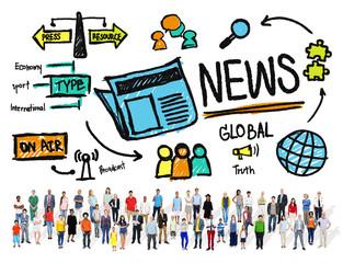 News Journalism Information Publication Advertisement Concept