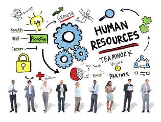 Human Resources Employment Job Teamwork Technology Concept