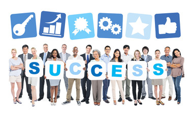 Success Business People Team Teamwork Success Strategy Concept